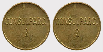 Canadian Cab Guelph >> Coins and Canada - Transportation tokens - Train, transit, subway, bus, bridge, taxi