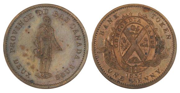1 penny 1837