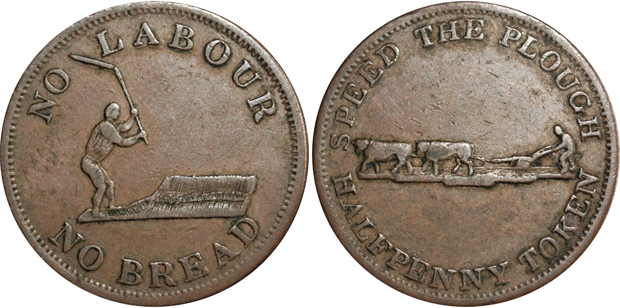 Perrins Bros. - 1/2 penny 1837