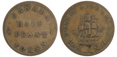 Public accomodation - 1/2 penny 1831