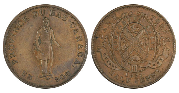 1/2 penny 1837