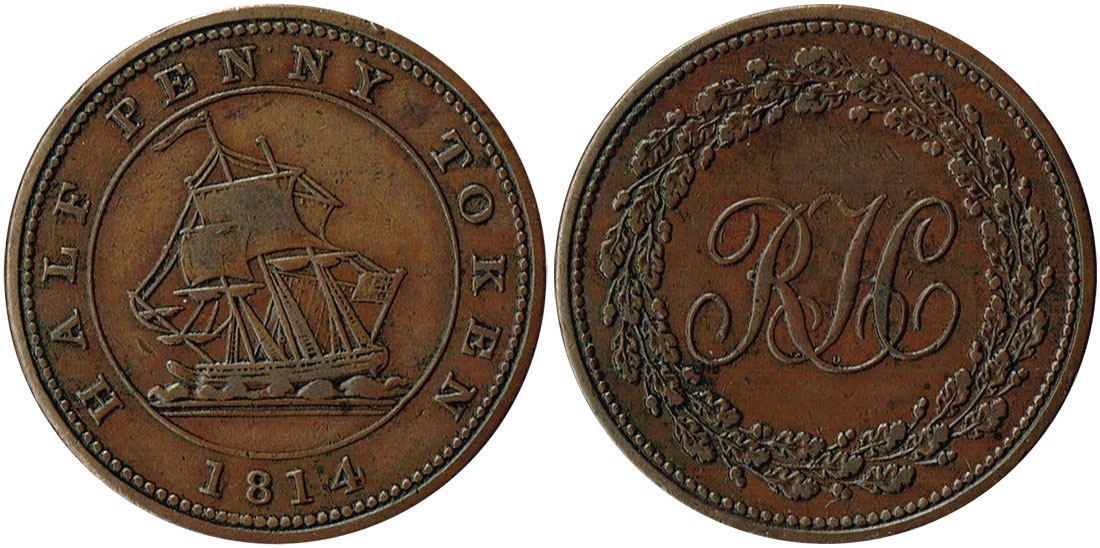 Richard Hurd - 1/2 penny 1814