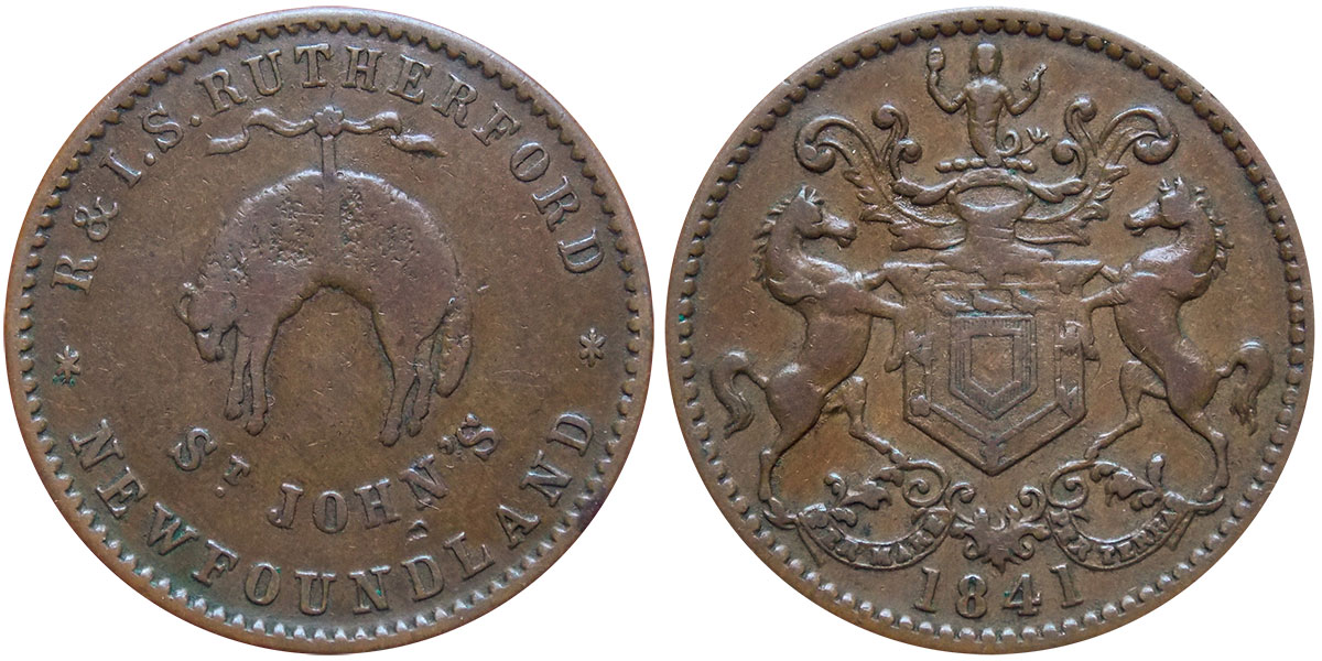 Rutherford Brothers - 1/2 penny - 1841