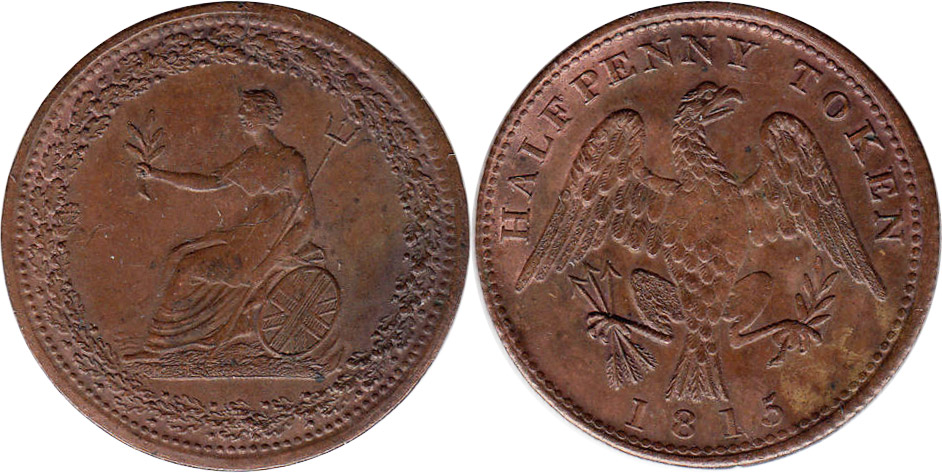 Spread Eagle - 1/2 penny 1815