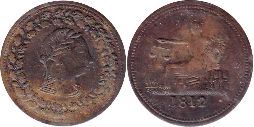 Thomas Halliday - 1/2 penny 1812