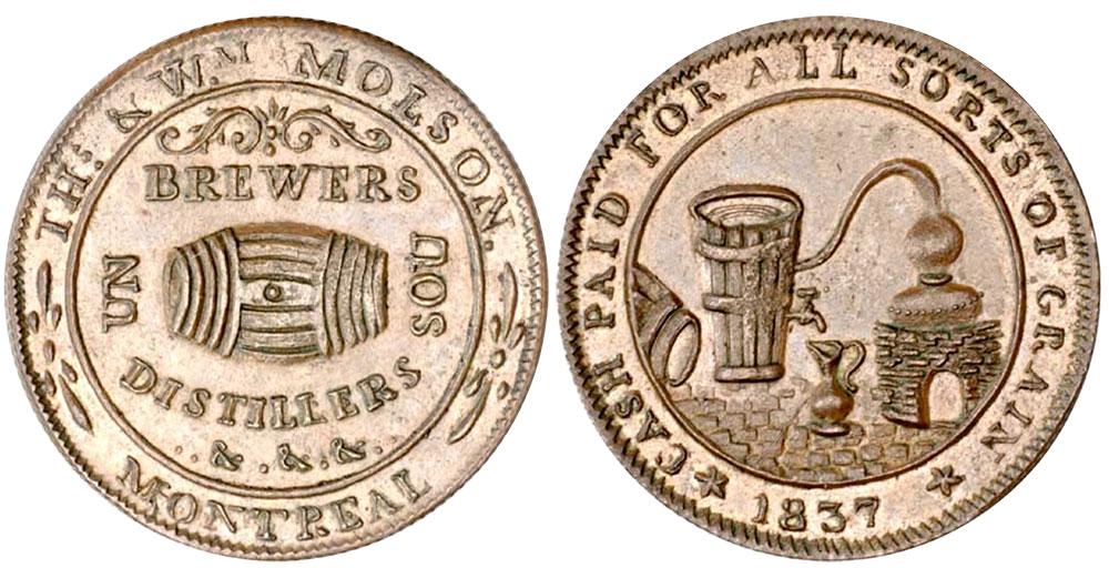 Thos. & Wm. Molson - 1/2 penny 1837