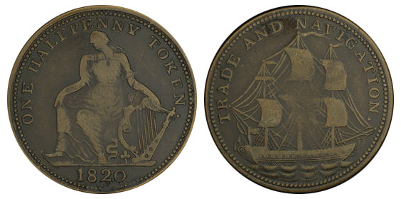 Trade & Navigation - 1/2 penny 1820
