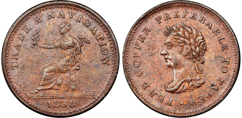 Trade & Navigation - 1 penny 1838