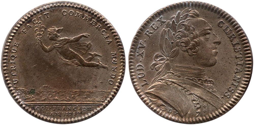 Utrique Facit Commercia Mundo - 1752