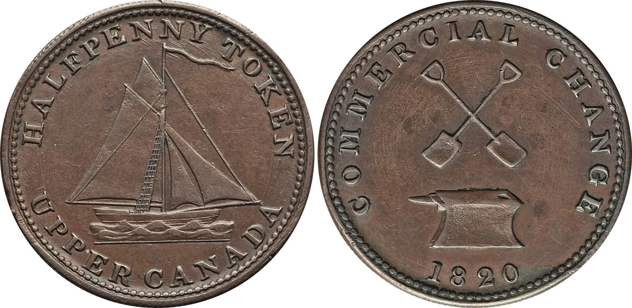 Commercial Change - 1/2penny 1820