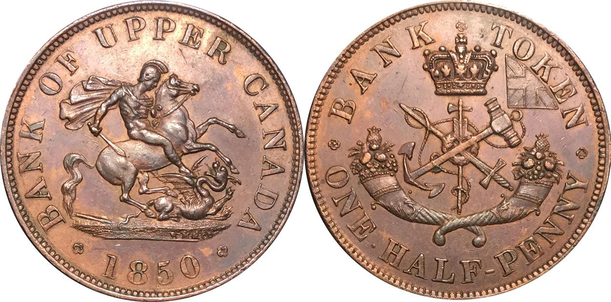 1/2 penny 1850