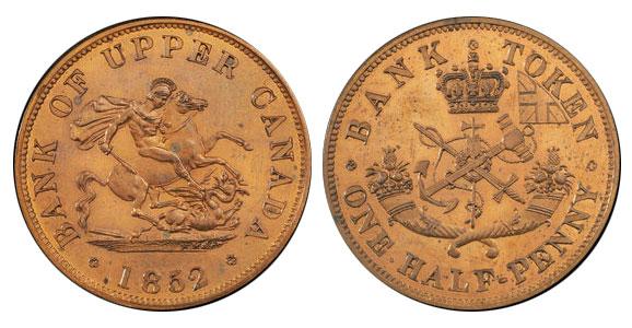 1/2 penny 1852