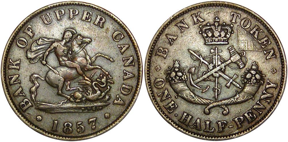 1/2 penny 1857