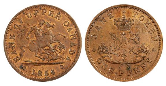 1 penny 1854