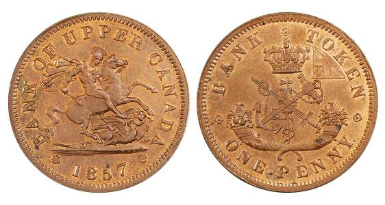 1 penny 1857
