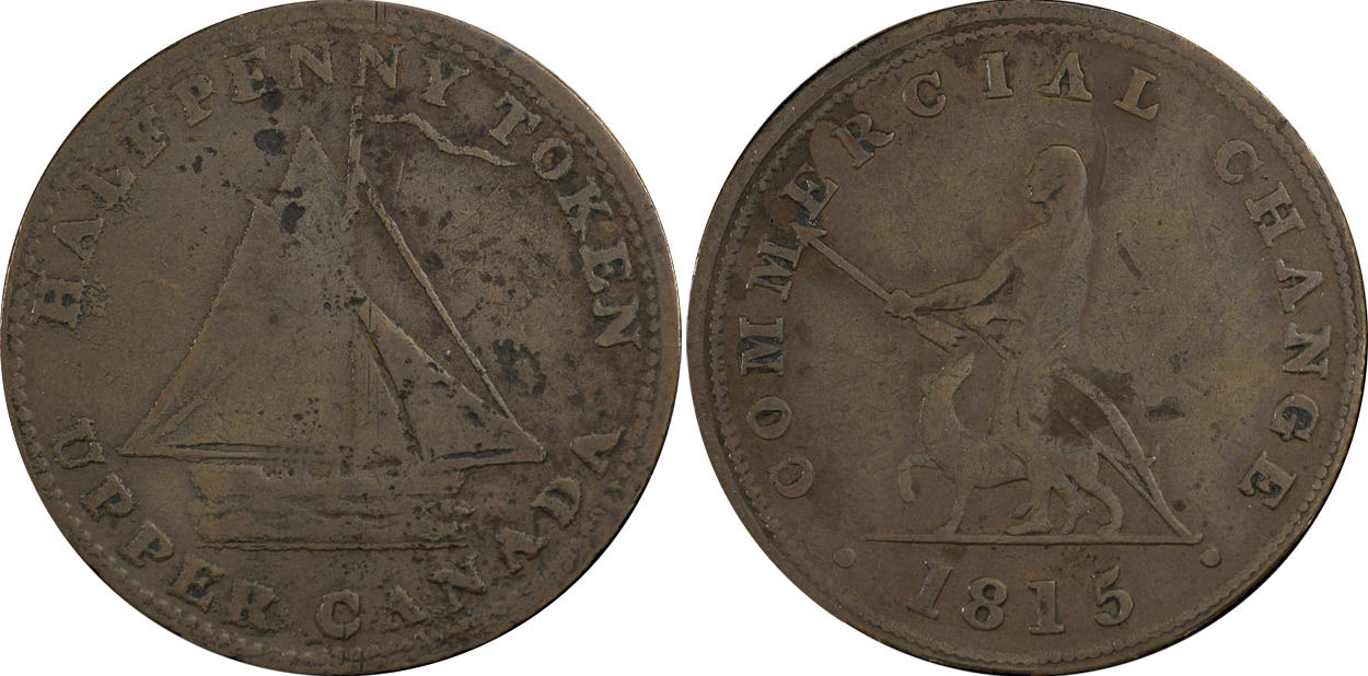 Commercial Change - 1/2 penny 1815