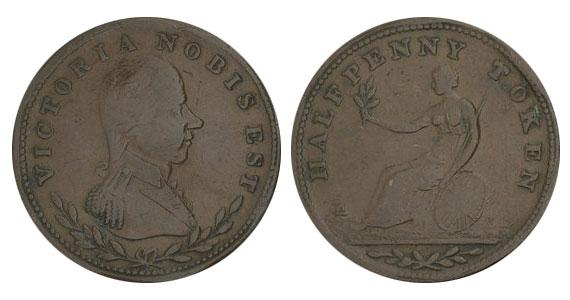 Victoria - 1/2 penny 1813