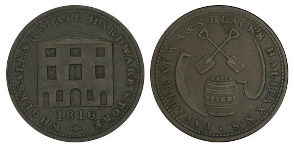W.A. & S. Black - 1/2 penny 1816