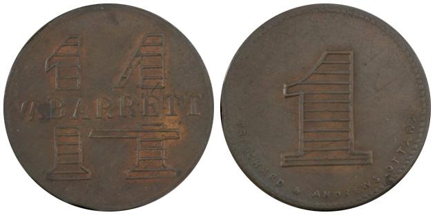 W. Barrett - Ottawa - 14 cents