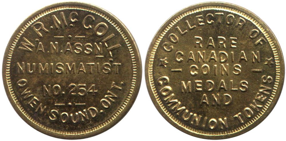 W.R. McColl - Numismatist - Ontario
