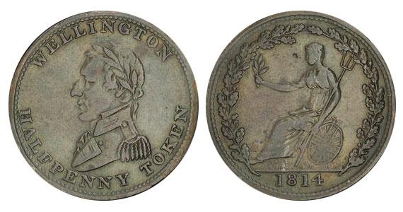 1/2 penny 1814