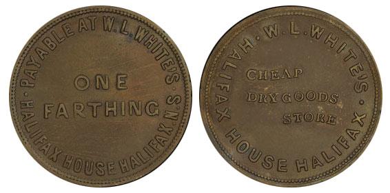 W.L. White - 1 farthing 1840