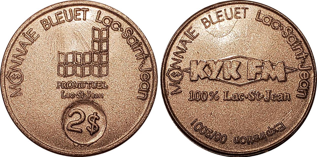Lac-St-Jean - Monnaie Bleuet