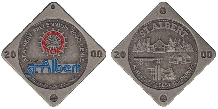 St. Albert - Millennium 2000 cents