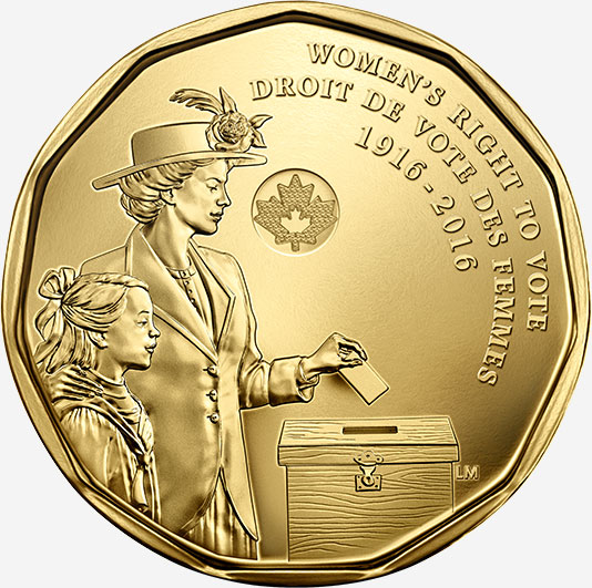 1 dollar 2016 - Women's Right to Vote