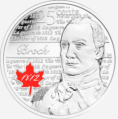 25 cents 2012 - Isaac Brock - War of 1812