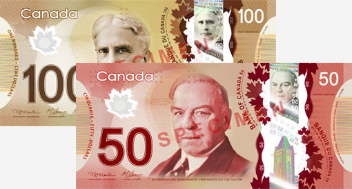 new $50 polymer bank note