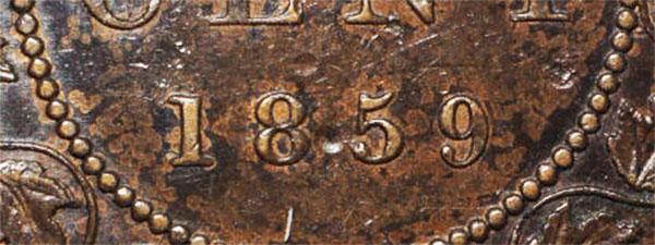 1 cent 1859 - Low 9