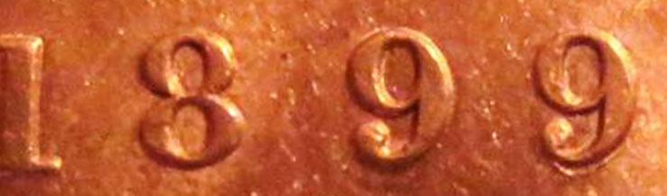 1 cent 1899 - Double 9