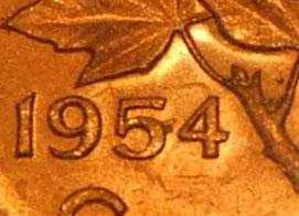 1 cent 1954 - Hanging 4