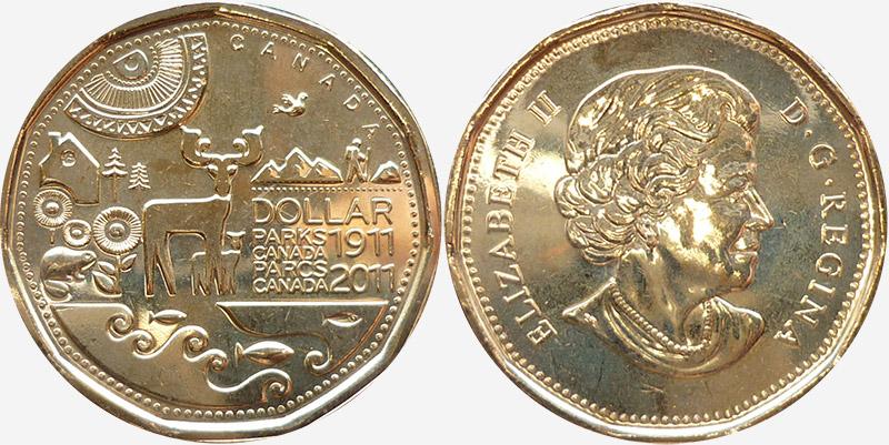 1 dollar 2011 - Canada Parks