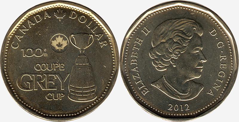 1 dollar 2012 - Grey Cup