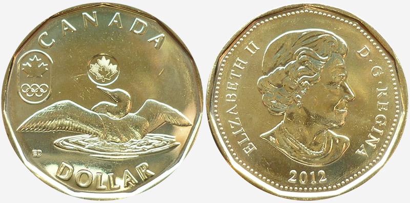 1 dollar 2012 - Lucky Loonie
