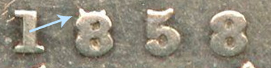 10 cents 1858 - 1858/1558