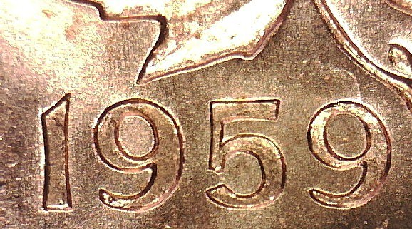 Coins and Canada - 1 cent 1959 - Canadian coins price guide and values