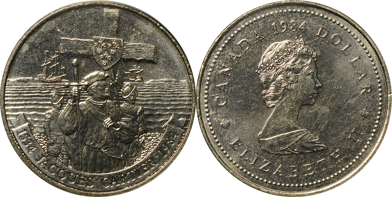 1 dollar 1984 - Jacques Cartier