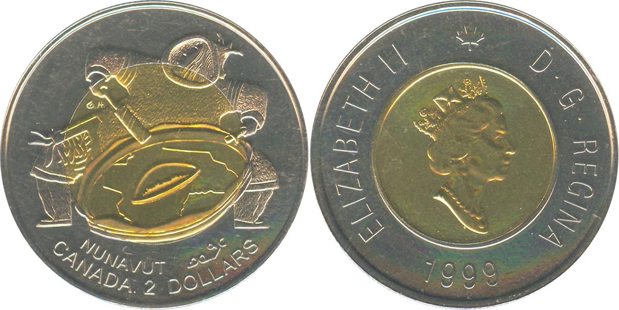 2 dollars 1999 - Nunavut Mule