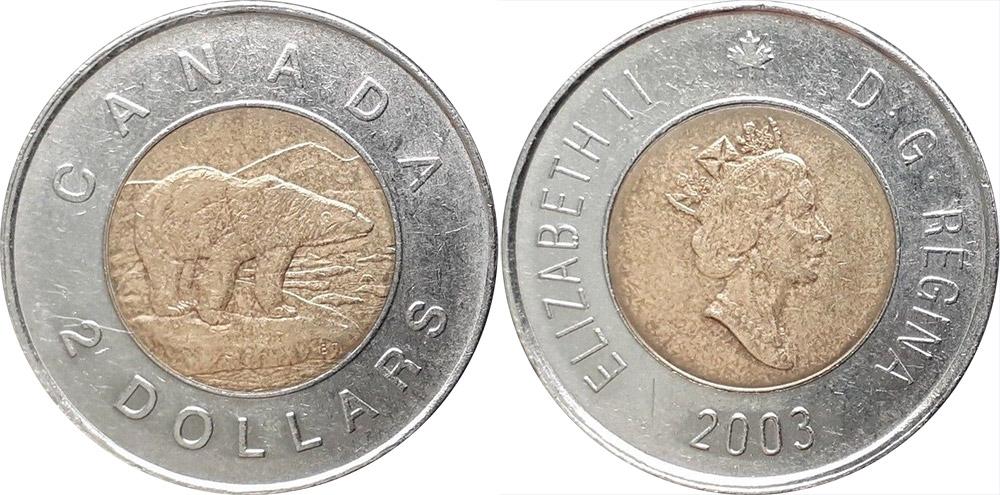 2003 Canada New Effigy Loonie Graded as Brilliant Uncirculated