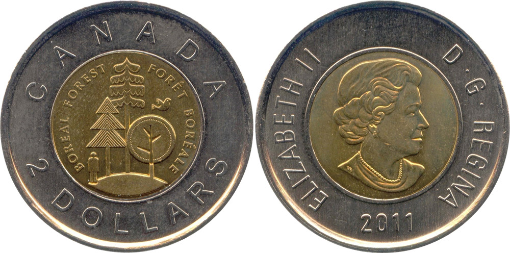 2 dollars 2012 - Canada Parks - Boreal Forest