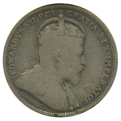 G-4 - 25 cents 1902 to 1910 - Edward VII