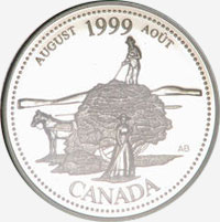 25 cents 1999 - August