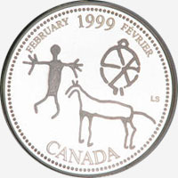 25 cents 1999 - February