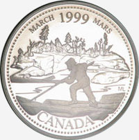 25 cents 1999 - March