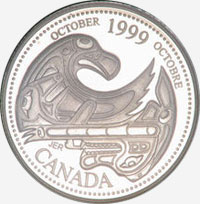 25 cents 1999 - October