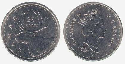 25 cents 2002 - P - 1952-2002