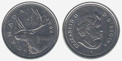 25 cents 2004 - P